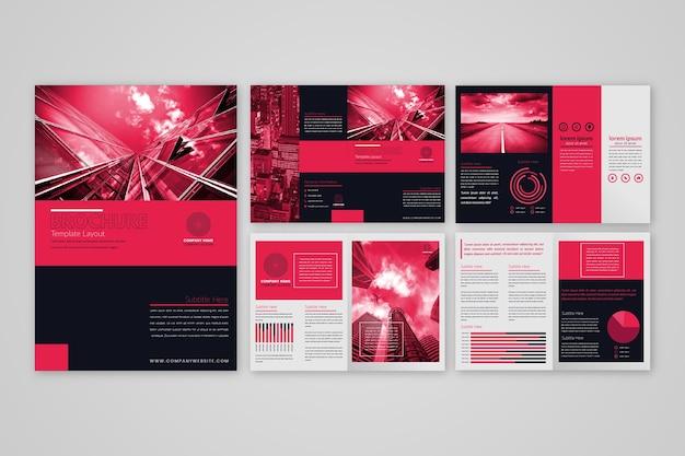 Disposition du modèle de brochure
