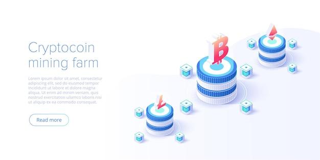 Disposition de la ferme de minage de cryptocoin