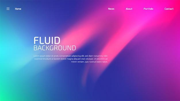 Disposition de modèle de site web moderne avec dessin abstrait