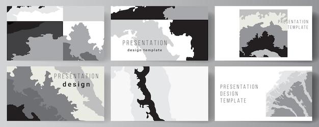 Disposition vectorielle des diapositives de présentation modèles d'affaires de conception modèle polyvalent pour la brochure de présentation brochure couverture paysage fond décoration motif demi-teinte texture grunge
