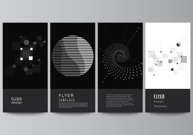 Disposition vectorielle des modèles de conception de bannière de flyer pour la conception de site web publicitaire conception de flyer vertical ...