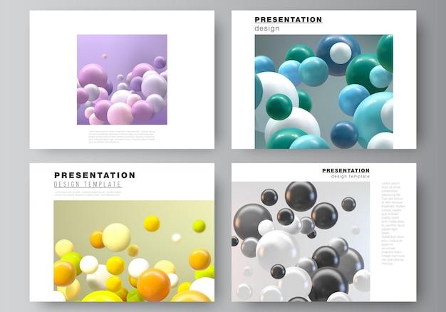 Disposition vectorielle des modèles de conception de diapositives de présentation modèle polyvalent pour brochure de présentation...