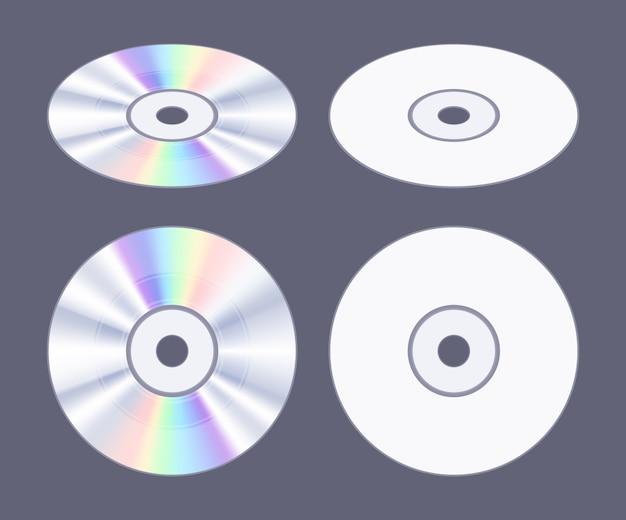 Disque cd-dvd plat isométrique