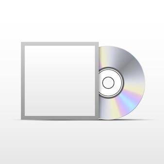 Disque compact cd ou dvd avec gabarit de couverture noir