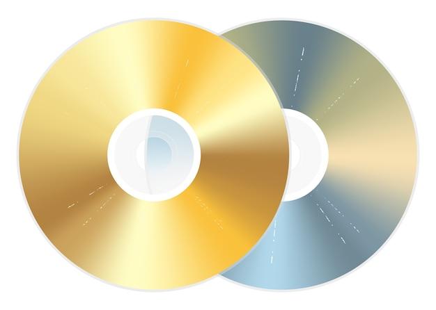 Disque dvd cd doré