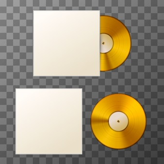 Disque vinyle album doré
