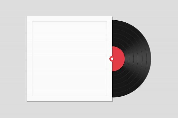 Disque vinyle avec illustration de couverture isolé