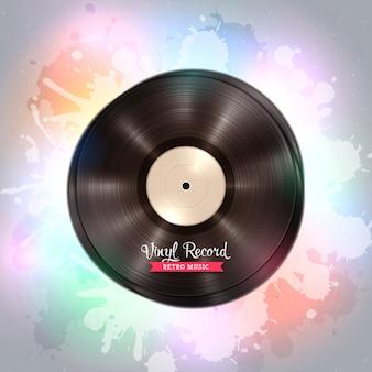 Disque vinyle lp de longue durée. fond de musique