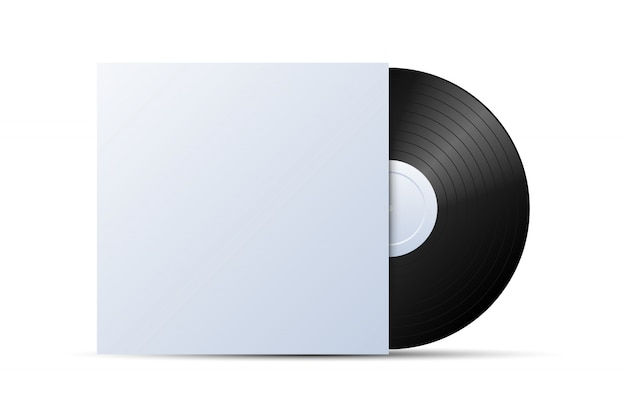 Disque vinyle avec maquette de couverture