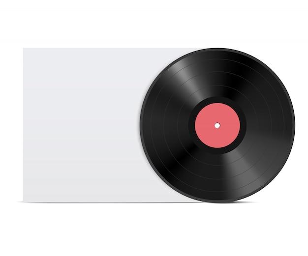 Disque vinyle réaliste