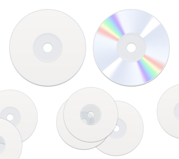 Disques cd deux faces isolés