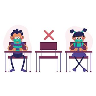 Distance sociale à l'école