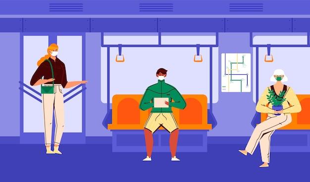 Distances sociales dans les transports publics