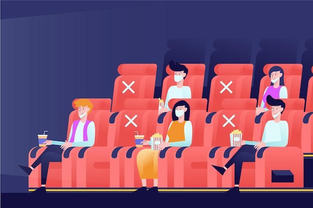 Distanciation sociale au cinéma
