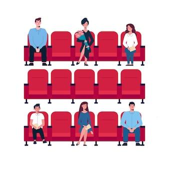 Distanciation sociale au théâtre de la salle de concert