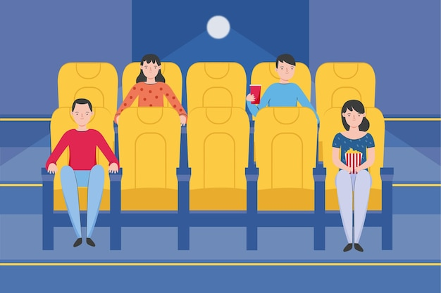 Distanciation sociale dans les salles de cinéma