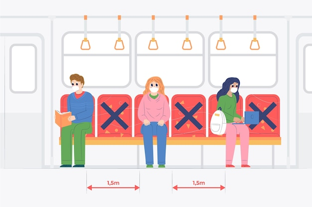 Distanciation sociale dans les transports publics