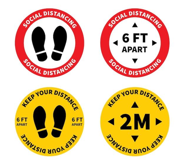 Distanciation sociale gardez la distance de 2 mètres