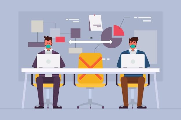 Distanciation sociale en réunion