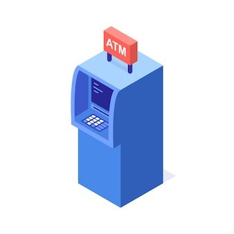 Distributeur automatique de billets isométrique.