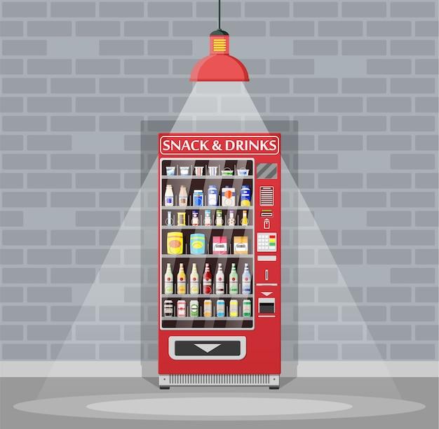 Distributeur automatique de nourriture et de boissons.