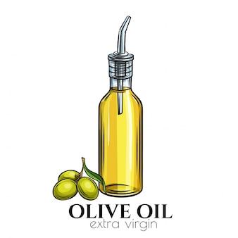 Distributeur de bouteilles en verre d'huile d'olive