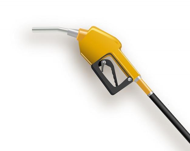 Distributeur de carburant dans un style 3d simple isolé sur fond blanc