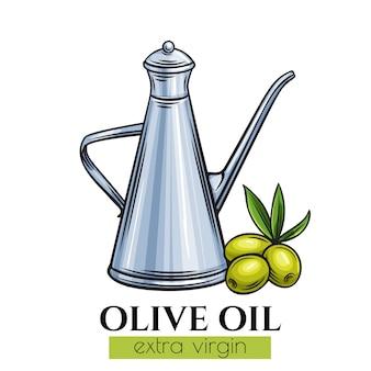 Distributeur d'huile d'olive en métal