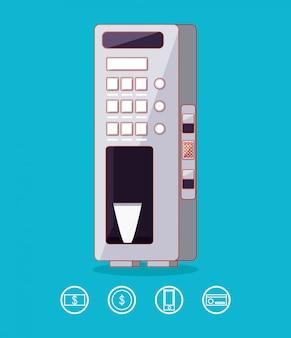 Distributeur de machine à boissons électronique