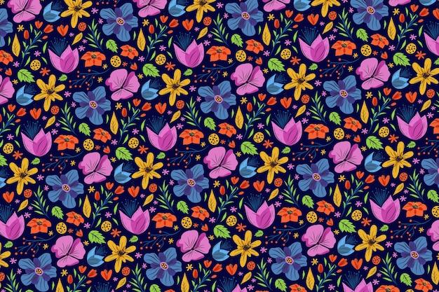 Ditsy fleurs colorées papier peint