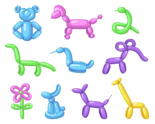 Divers animaux en montgolfière