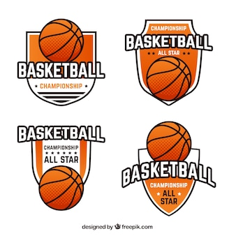 Divers badges de basket-ball