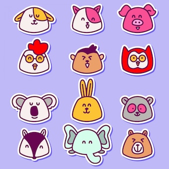 Divers dessins d'animaux chibi mignons