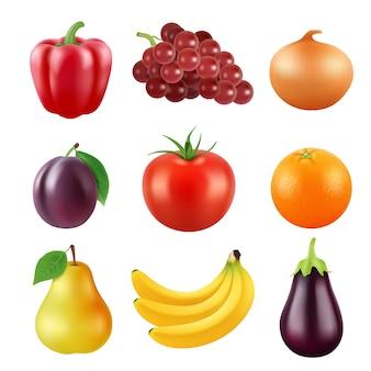 Divers fruits réalistes