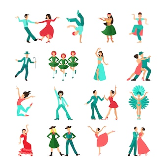 Divers hommes de danse de style en solo
