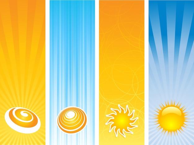 Divers modèles de bannière avec un thème d'été