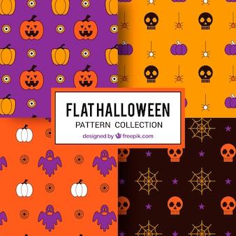 Divers motifs colorés d'halloween
