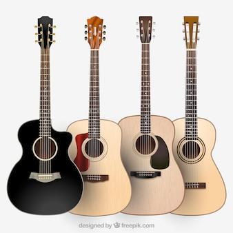 Divers types de guitares