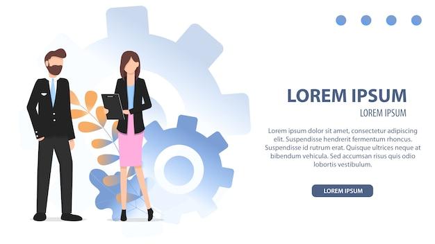 Diverses carrières business streamline character set