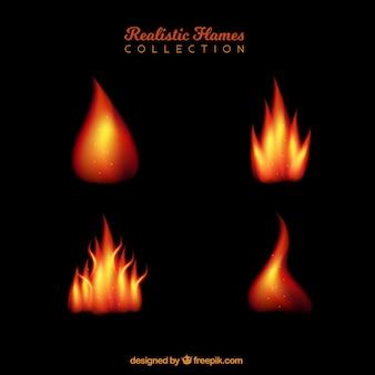 Diverses flammes réalistes