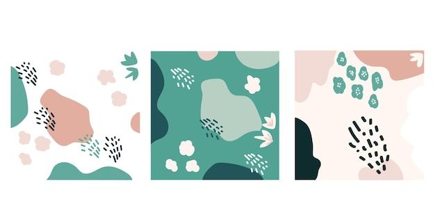 Diverses formes abstraites contemporaines dessinées à la main