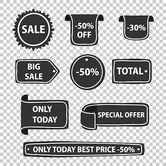 Diverses formes de badges à prix réduits