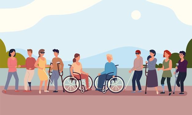 Diverses personnes handicapées