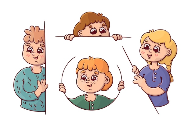 Diverses positions pour que les gens regardent