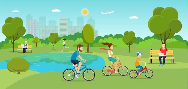 Diverses scènes avec des gens dans le parc de la ville. télévision illustration vectorielle