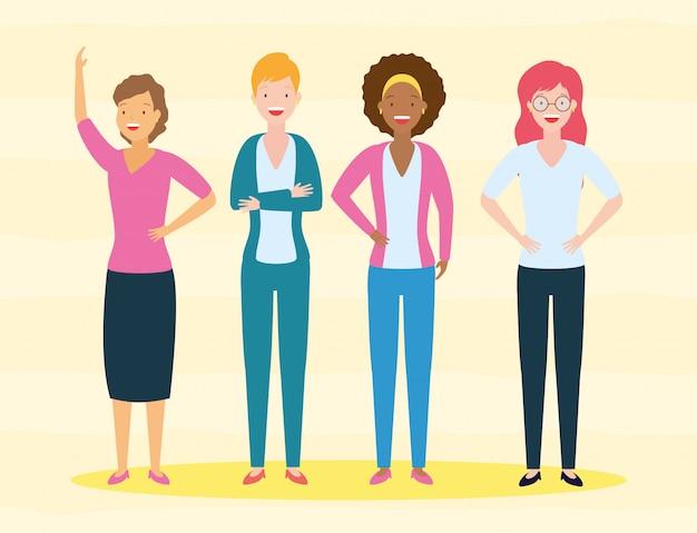 Diversité femme gens