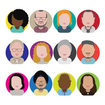 Diversité interracial communauté personnes plat