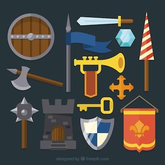 Diversité variée d'éléments chevaliers