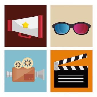 Divertissement au cinéma mis en icônes