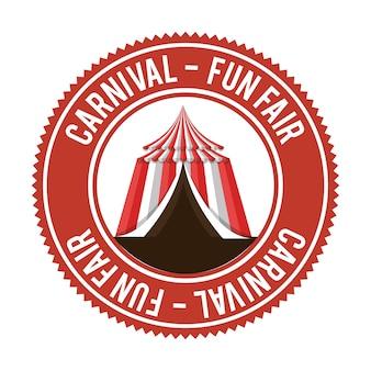 Divertissement carnaval amusant juste bannière